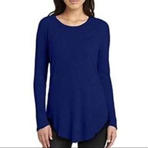 Chaser Blue Waffle Knit Long Sleeve Thermal Top